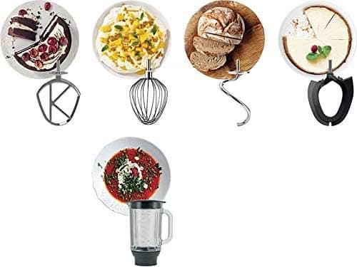Les accessoires du robot Kenwood Titanium Chef Pâtissier XL