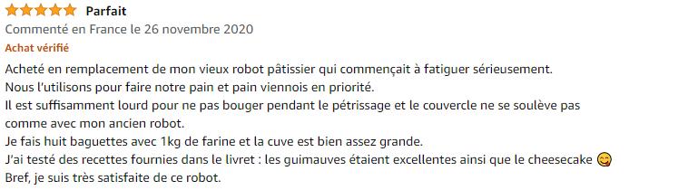 avis Parfait 5 étoile du Moulinex MasterChef Grande