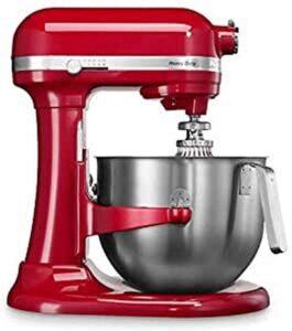 robot pâtissier KitchenAid Heavy Duty rouge